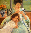 Cassatt Mary Young Mother Sewing