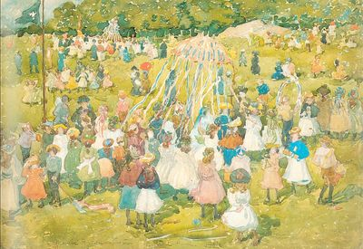 Prendergast May Day Central Park