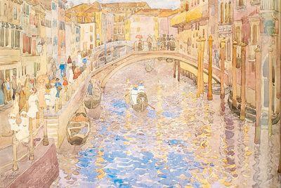 Prendergast Venetian Canal Scene
