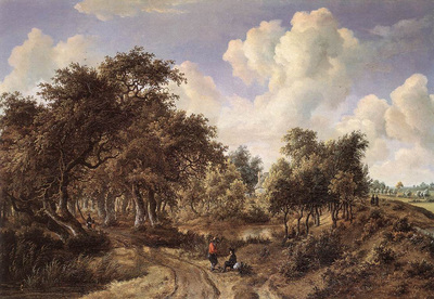hobbema meyndert a wooded landscape 1660