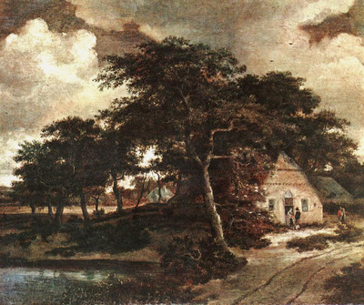 Hobbema Meyndert Landscape with a Hut