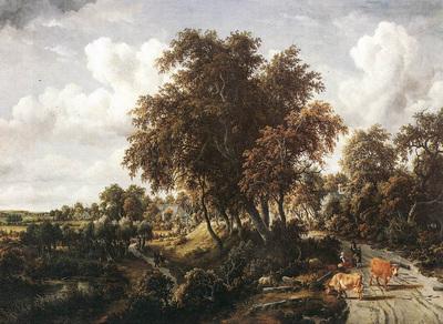 Hobbema Meyndert Road on a Dyke