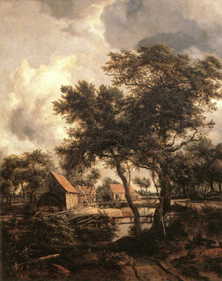 Hobbema Meyndert The Water Mill 1660s
