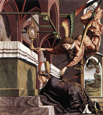 PACHER Michael Altarpiece Of The Church Fathers Vision Of St Sigisbert