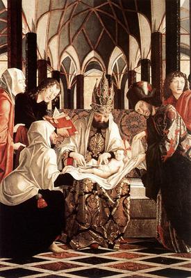 PACHER Michael St Wolfgang Altarpiece Circumcision