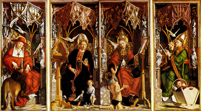 Pacher Micael Altar Of The Four Latin fathers
