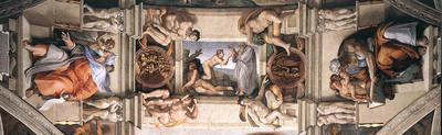 Ceiling of the Sistine Chapel detail2 EUR