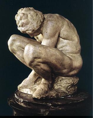 Michelangelo Crouching Boy
