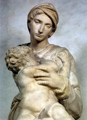 Michelangelo Medici Madonna detail2