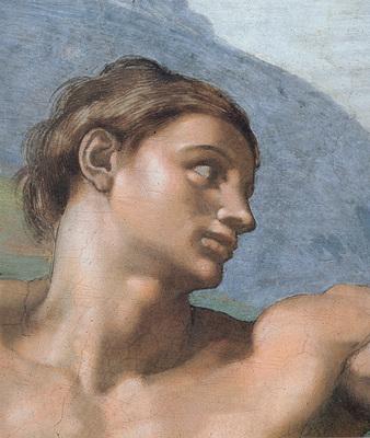 Michelangelo Sistine Chapel Ceiling Genesis The Creation of Adam Adam s face