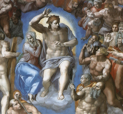 Michelangelo The Last Judgement detail1