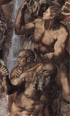 Michelangelo The Last Judgement detail2