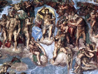 Sistine Chapel Last Judgement detail EUR