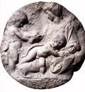 Michelangelo Madonna and Child with the Infant Baptist Taddei Tondo