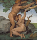 Michelangelo Sistine Chapel Ceiling Genesis The Fall and Expulsion from Paradise The Original Sin