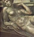Michelangelo Tomb of Lorenzo de Medici detail Dawn detail1