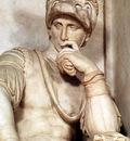 Michelangelo Tomb of Lorenzo de Medici detail Lorenzo de Medici detail1