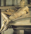 Michelangelo Tomb of Lorenzo de Medici detail Twilight