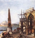 MARIESCHI Michele Imaginative View with Obelisk
