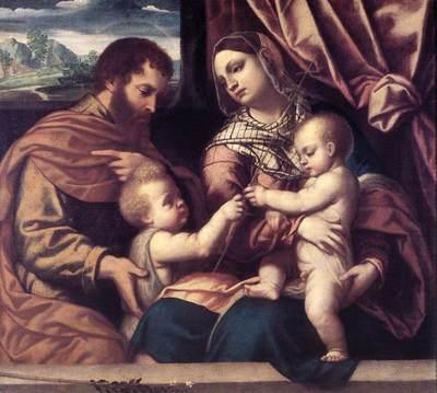 MORETTO da Brescia Holy Family