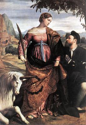 MORETTO da Brescia St Justina With The Unicorn