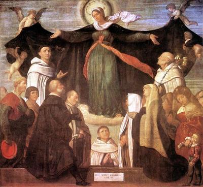 MORETTO da Brescia The Virgin Of Carmel