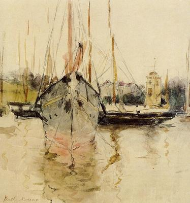 Morisot Berthe Boats Entry to the Medina in the Isle of Wight