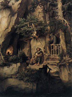 SCHWIND Moritz von A Player With A Hermit