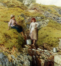 Foster Myles Birket A Highland Burn Balmacara Near Kyle Of Lochalsh