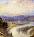 Foster Myles Birket Melrose Abbey From The Banks Of The Tweed
