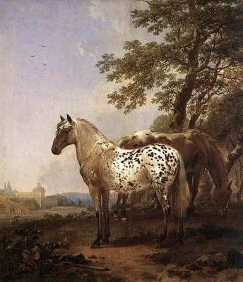 BERCHEM Nicolaes Landscape With Two Horses