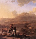 BERCHEM Nicolaes Italian Landscape At Sunset