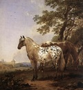 BERCHEM Nicolaes Landscape With Two Horses