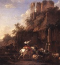 BERCHEM Nicolaes Rocky Landscape With Antique Ruins