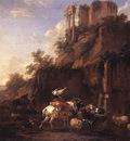 BERCHEM Nicolaes Rocky Landscape With Antique Ruins