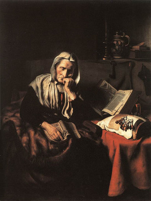 MAES Nicolaes Old Woman Dozing