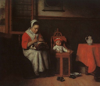 MAES Nicolaes The Lacemaker