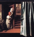 MAES Nicolaes Eavesdropper with a Scolding Woman