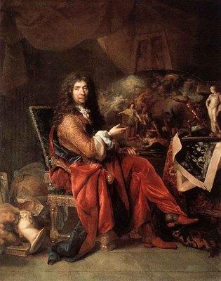 LARGILLIERE Nicolas de Portrait Of Charles Le Brun