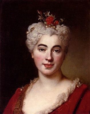 Largillierre Nicolas De Portrait Of A Elisabeth
