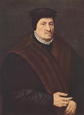 NEUFCHATEL Nicolas Portrait Of A Patrician
