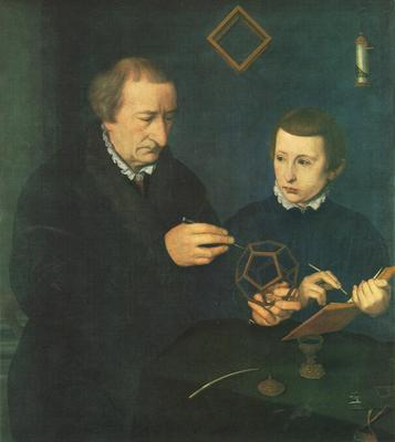 NEUFCHATEL Nicolas Portrait Of Johannes Neudorfer And His Son