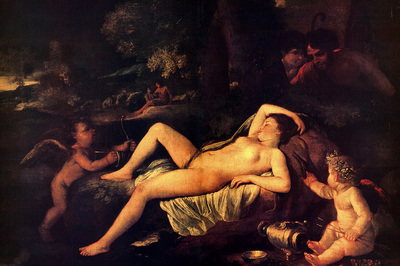 Poussin Nicholas Sleeping Venus and Cupid