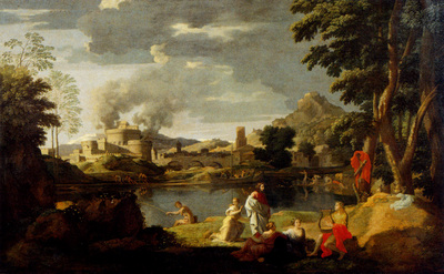 Poussin Nicolas Landscape With Orpheus And Eurydice