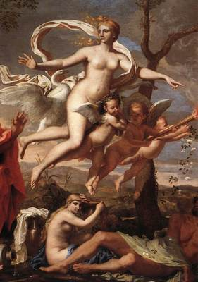 Poussin Venus Presenting Arms to Aeneas detail1