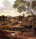 Poussin Landscape with the Funeral of Phocion
