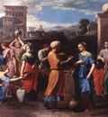 Poussin Rebecca at the Well