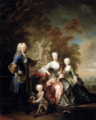 TOURNIERES Robert Count Ferdinand Adolf Von Plettenberg And His Family