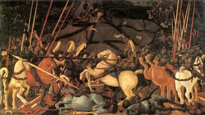 UCCELLO Paolo Bernardino Della Ciarda Thrown Off His Horse
