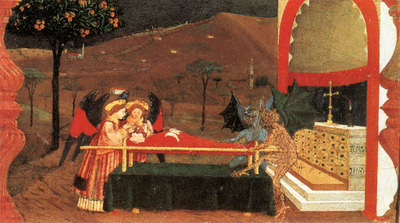 uccello paolo miracle of the desecrated host scene